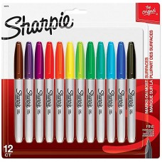 SHARPIE MULTI COLOURED 12 PACK