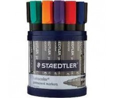 STAEDTLER  PERMANENT MARKER ASSORTED TUB OF 19
