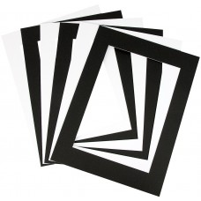A3 - CARDBOARD FRAMES - BLACK/WHITE - 10'S