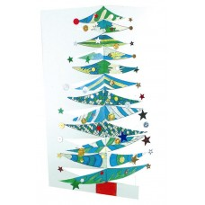 CARDBOARD - 3D XMAS TREES - 10'S