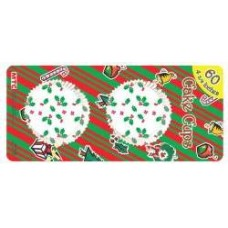 CHRISTMAS - CUP CAKES - LARGE - 12CM - 60'S