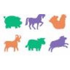 FARM ANIMAL STENCILS - 6 PCES