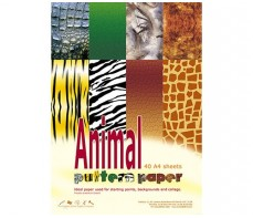 PATTERN PAPER A4, 40S ANIMAL