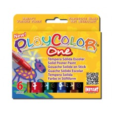 PLAYCOLOR ONE PAINT STICKS - STD - SET 6