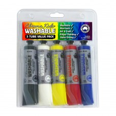 Chroma Kidz Washable Paint 5 X 75ml Set,